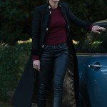 Miriam Shephard TV Series A Discovery of Witches Black Coat