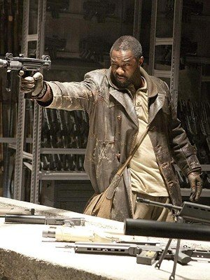Ghost Rider Idris Elba Distressed Leather Coat
