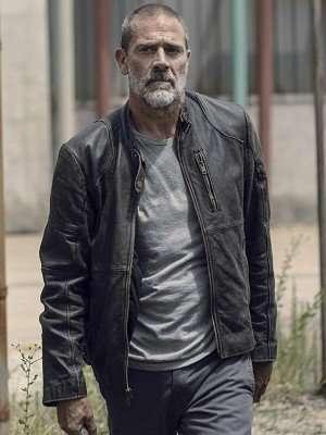 Season 9 The Walking Dead Negan Black Leather Jacket