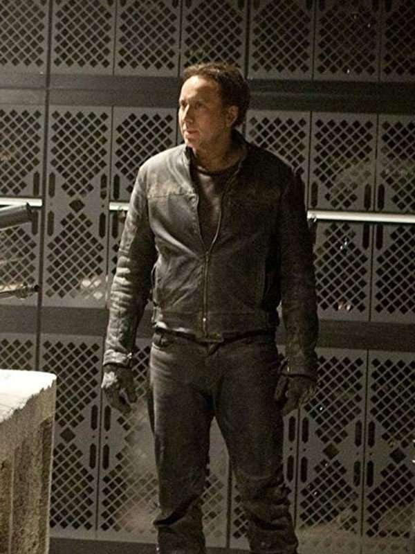 Nicolas Cage Ghost Rider Black Leather Jacket