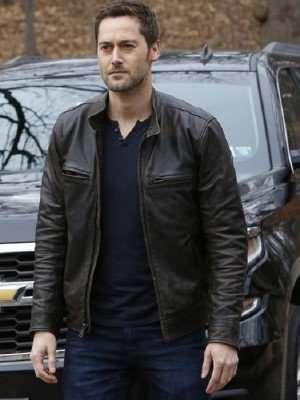 The Blacklist Ryan Eggold Black Leather Jacket