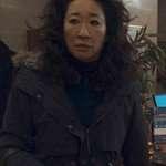 Sandra Oh Black Coat from Killing Eve