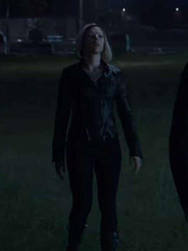 Scarlett Johansson Avengers Endgame Black Jacket