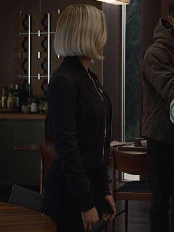 Scarlett Johansson Avengers Endgame Black Widow Leather Jacket