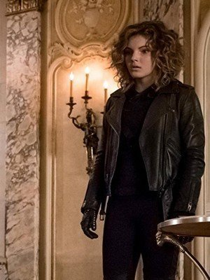 Camren Bicondova Leather Jacket from Gotham