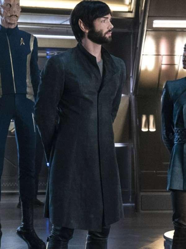 Star Trek Discovery Ethan Peck Black Long Coat