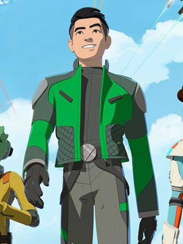 Star Wars Resistance Kazuda Xiono Green Jacket