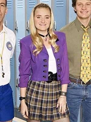 Schooled AJ Michalka Purple Cotton Jacket