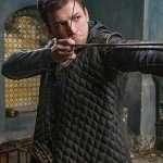 Taron Egerton Leather Coat from Robin Hood