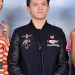 Tom Holland Black Leather Jacket