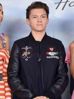 Tom Holland Black and Blue Jacket