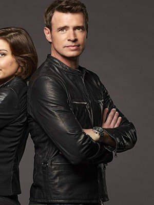 Scott Foley Leather Jacket from TV Series Whiskey Cavalier