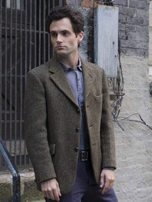 Penn Badgley You Brown Wool Blazer