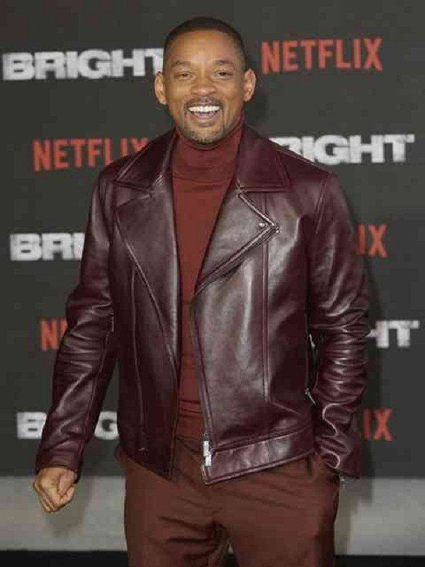 Aladdin Promotion Will Smith Leather Jacket