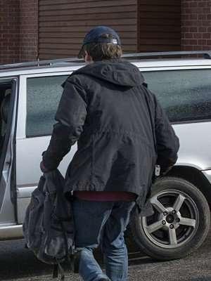 Black Mirror James Black Hooded Jacket