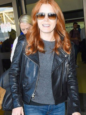 Amy Adams Black Leather Jacket