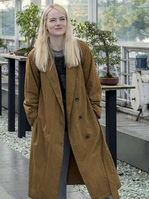 Maniac Emma Stone Cotton Trench Coat