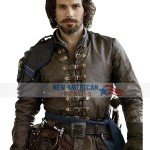 Aramis The Musketeers Brown Leather Jacket