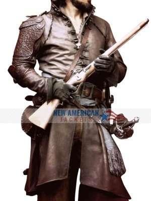 Aramis The Musketeers Santiago Cabrera Leather Coat