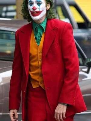 Joaquin Phoenix Joker Red Tuxedo Suit