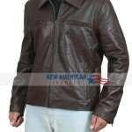 Barack Obama Brown Real Leather Jacket