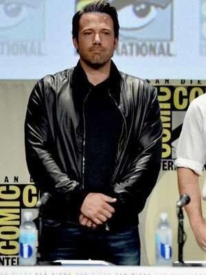 Batman V Superman Ben Affleck Black Leather Jacket