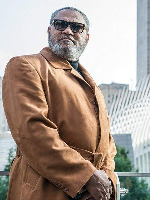 John Wick 3 Laurence Fishburne Brown Leather Coat