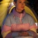 Brie Larson Unicorn Store Kit Tricolor Jacket