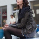 Charlotte Fitzgerald Arthur Newman Black Leather Jacket