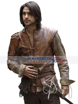 Luke Pasqualino The Musketeers Leather Jerkin