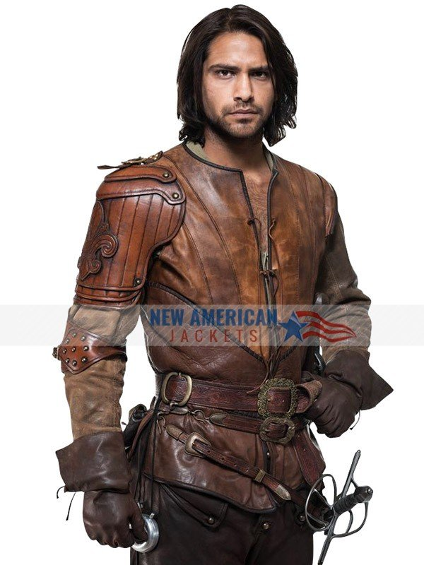 D'Artagnan The Musketeers Luke Pasqualino Leather Jerkin