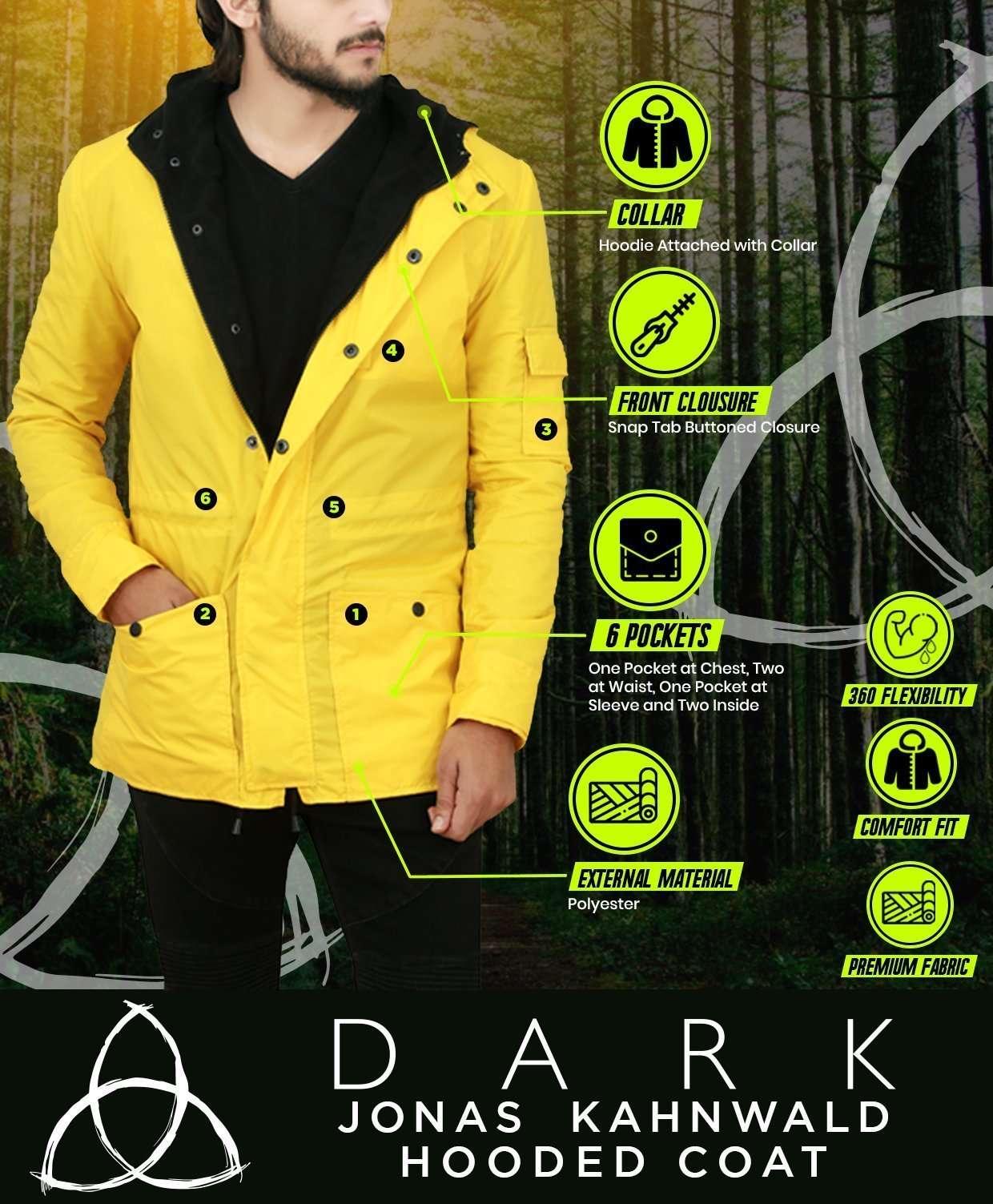 Dark Jonas Kahnwald Yellow Hooded Coat
