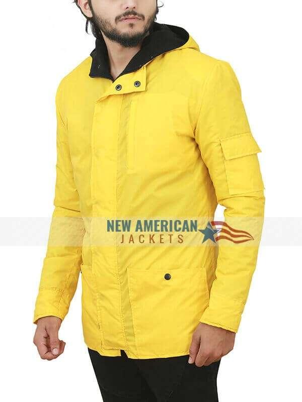 Dark Louis Hofmann Yellow Hooded Coat
