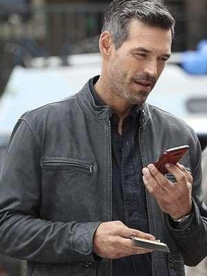 Two Take Eddie Valetik Grey Leather Jacket