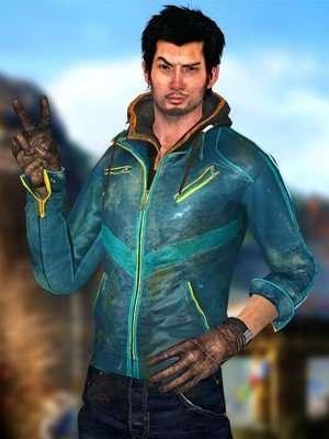 Ajay Ghale Far Cry 4 Blue Leather jacket