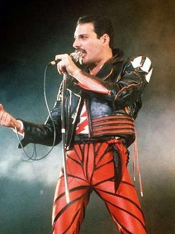 Freddie Mercury Black and Red Jacket