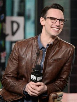 Gotham Cory Michael Smith Brown Leather Jacket