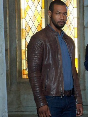 Shadowhunters Isaiah Mustafa Brown Leather Jacket