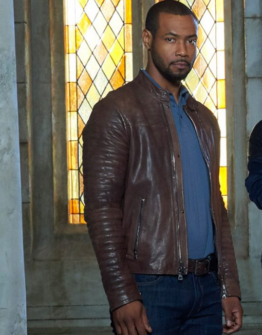 Isaiah Mustafa Shadowhunters The Mortal Instruments Brown Jacket