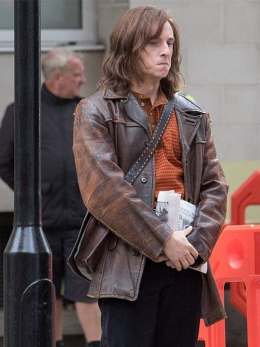 Jamie Bell Rocketman Bernie Taupin Leather Jacket