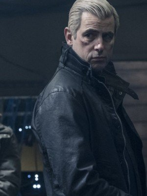 Claes Bang The Girl in the Spider's Web Black Leather Jacket