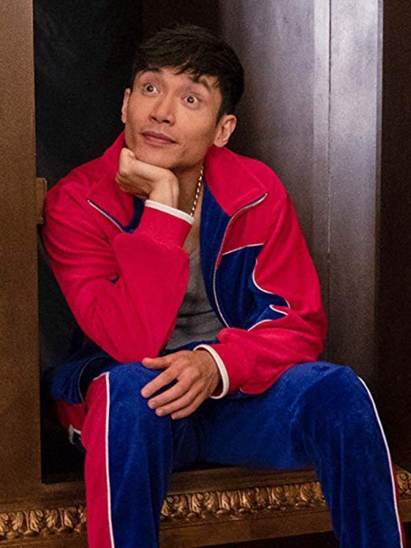 Jason Mendoza The Good Place Red and Blue Jacket