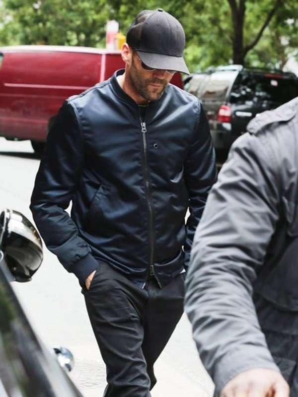Jason Statham Leather Bomber