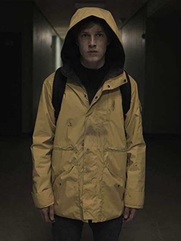 Jonas Kahnwald Dark Louis Hofmann Hooded Coat