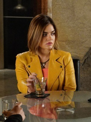 Lucy Hale Pretty Little Liars Yellow Leather Jacket
