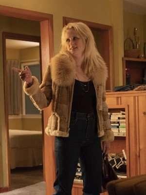 True Detective Mamie Gummer Suede Leather Jacket