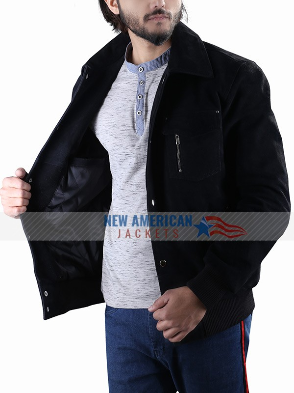 Mark Wahlberg Leather Jacket from Daddy's Home 2