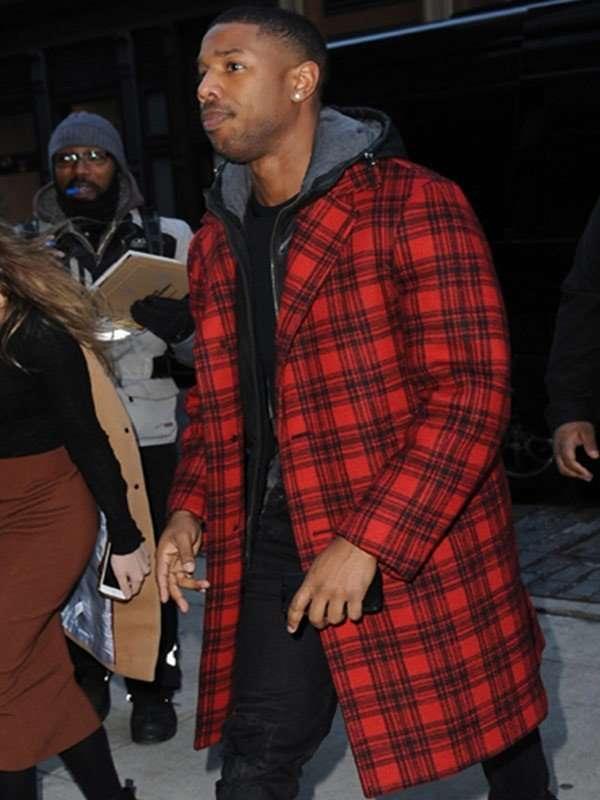Michael B. Jordan Red Coat