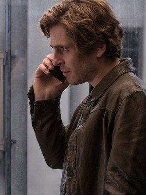 Sverrir Gudnason The Girl in the Spider's Web Brown Leather Jacket
