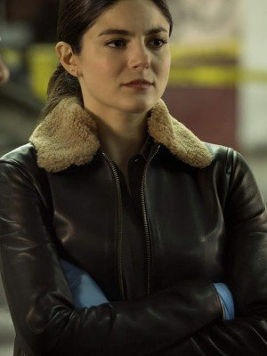 The Good Cop Monica Barbaro Shearling Fur Leather Jacket